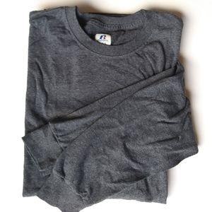 Russell Plain Grey Long Sleeve Shirt